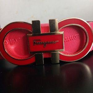 Ferragamo belt (RED)